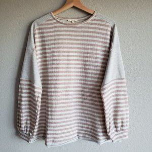 EASEL Friday Vibes Striped Pullover S M L